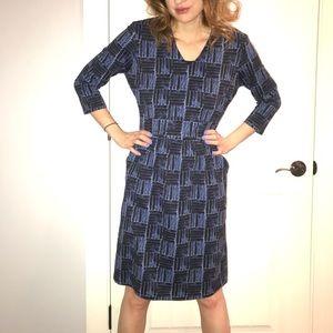 J McLaughlin basket weave pocketed dress m